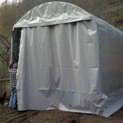 Struttura per ricovero camper molto robusta per carico neve